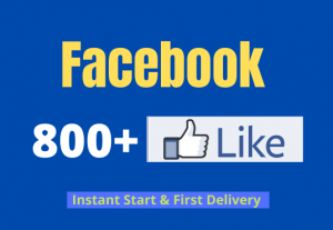 I will add your 800+ Facebook Non Drop Page likes