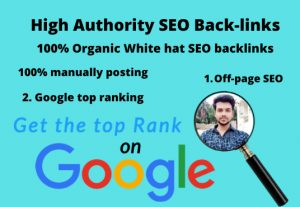 I will do google top ranking and high-quality SEO backlinks