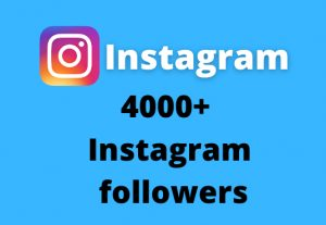 I will add 4000+ Instagram followers || Real and Active Users || Non Drop Guarantee.