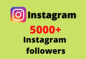 I will add 5000+ Instagram followers || Real and Active Users || Non Drop Guarantee.