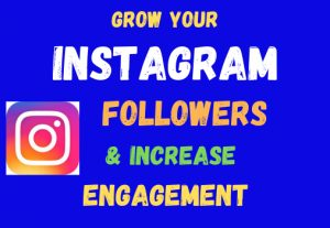 I will grow your Instagram account by real and active followers