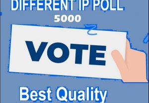i will give you 5,000 Different IP votes on your online voting contest