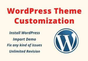 I will create, customize and edit the WordPress website design
