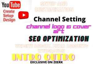 I will create /setup and design a youtube channel with seo
