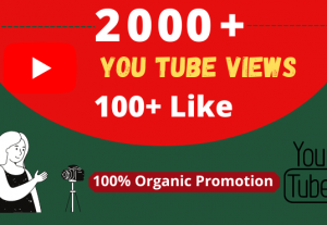 Get Organic 2000+ YouTube Views, & 100+ Likes, Real Active Users, 