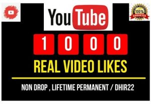 I will provide 1000 youtube video likes Instant