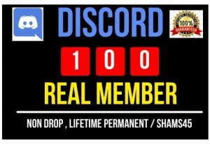 Get Instant 100+ Discord Real Member, Non-drop, and Lifetime Permanent
