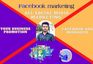 I will do link building and Facebook marketing and your business promotion