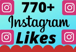 I will add 770+ real and organic  Instagram likes for your business