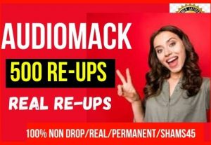 Get Instant 500+ Audiomack Re-Ups, Non-Drop, real Human Likes, and Permanent
