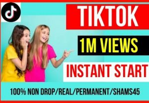 Best Offer Get 1M+ Tiktok Post Video Views Instant, Non-drop And Permanent