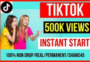 Best Offer Get 500k+ Tiktok Post Video Views Instant, Non-drop And Permanent