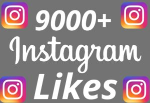 I will add 9000+ REAL AND non drop Instagram likes