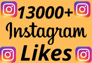 I will add 13000+ REAL AND non drop Instagram likes