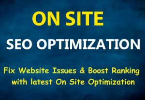 Complete On Site Optimization for Top Google Ranking