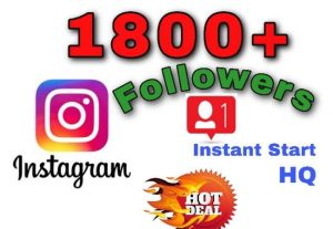 I will provide 1800+ Followers on Instagram!! Fast and HQ!!