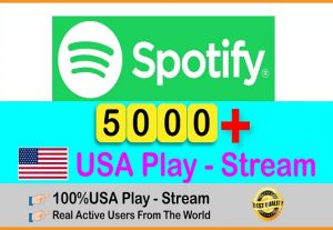 Get 5000+ Spotify Organic Plays From HQ USA Accounts||Real and Active Users Non-drop and Lifetime Guarantee..
