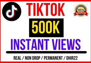 Get 500k+ TikTok Video Views Instant Only 5$, Real and Organic, Non-Drop, Lifetime guaranteed