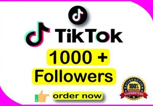 I will give you 1000+ TikTok followers  || Real Active User || High Quality || Non-drop || Lifetime User Guaranteed.