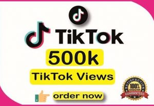 I will give 500K+ TikTok Organic Views || Real Active User || High Quality || Non-drop || Lifetime User Guaranteed.