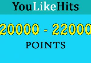 20000+ Youlikehits point 100% safe, reliable