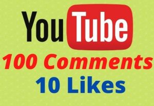 Get 100 Youtube Comments and 10 Likes Non-drop Lifetime Guaranteed.