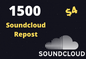 1500 SOUNDCLOUD Organic Repost