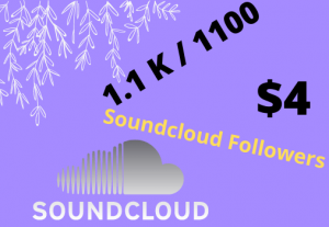 Get 1100 SOUNDCLOUD Real  Followers
