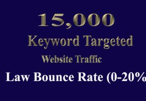 15,000 SOCIAL MEDIA Website Traffic with Low Bounce Rate and Long Visit Duration for 30 days