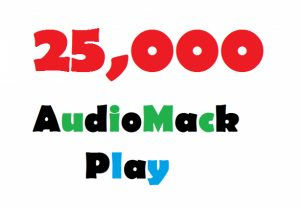 Add 25,000 AudioMack Plays Promotion To Your Track On Artist