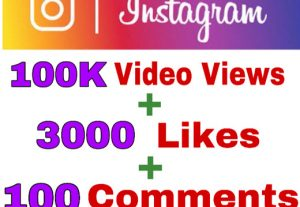 Get Package : 100K Video Views, 3000+ Likes, & 100 Comments on Instagram Post . Instant & Non Drop.