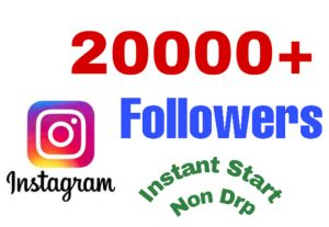 I will add 20000+ Followers on Instagram Profile . Instant & Non drop!