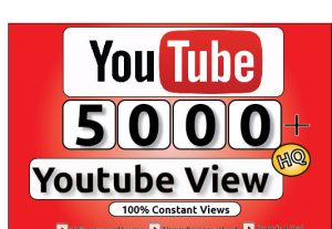 Get 5000+ Youtube Constant View, LifeTime Guranteed Service For 25$