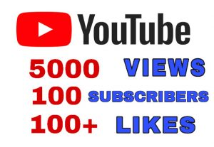 Get Package : 5000+ Views, 100 Subscribers, & 100+ Likes. Non Drop Guaranteed!