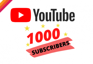 Get 1000 YOUTUBE Suscribers  – Non-drop – Fast delivery- HQ