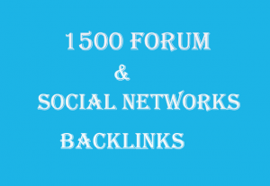 You get 1500 Forum & Social Networks Backlinks
