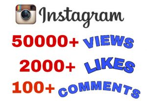 Get Package : 50000+ Views , 2000+ Likes & 100+ Comments on Instagram Video Post . Non Drop Guaranteed!