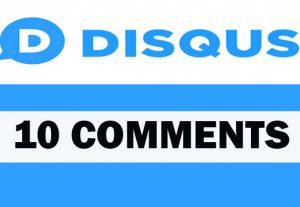 10 Disqus comments for your Website/ Blog
