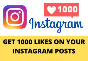 Get 1000 instagram LIKES – Non-drop – Fast delivery