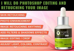 I will do photoshop editing and retouching your image