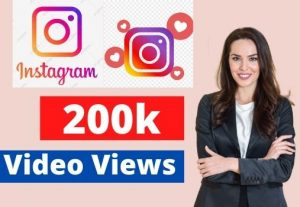 Add 200K Instagram video views Non-drop Lifetime Guaranteed