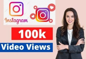add 100K Instagram video views Non-drop Lifetime Guaranteed