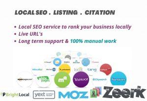 I will do manual local SEO citation, local business listing USA UK