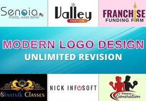 I will design a modern logo for your business