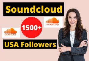 Give 1500+ Soundcloud USA Followers Instant Real and Organic, Non-drop & Lifetime Guaranteed.