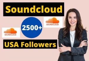 Give 2500+ Soundcloud USA Followers Instant Real and Organic, Non-drop & Lifetime Guaranteed.