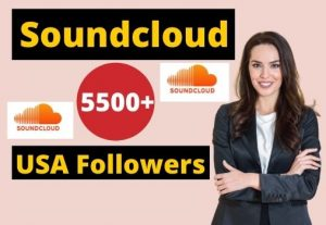Give 5500+ Soundcloud USA Followers Instant Real and Organic, Non-drop & Lifetime Guaranteed.