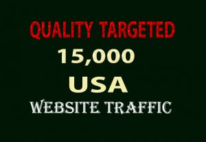 15,000 QUALITY TARGETED USA WEBSITE TRAFFIC FROM SEARCH ENGINE