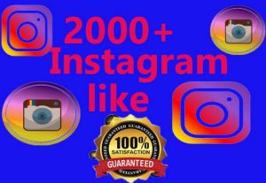 I will provied 2000+ Instagram like And 1000 followers