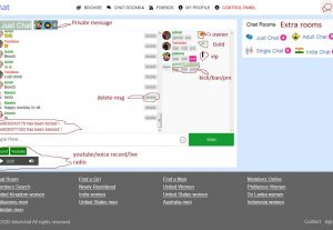 Group chat room web script with audio ,video call